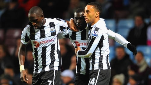 Papiss Cisse opened the scoring at Villa Park for the visitors