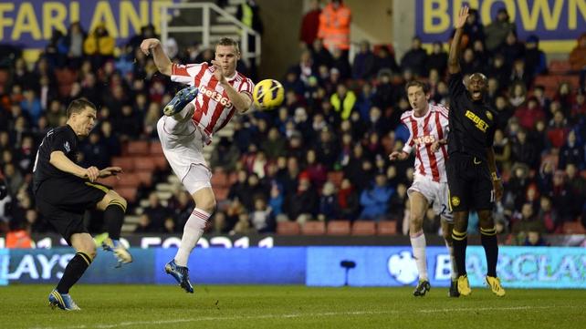 An agile Ryan Shawcross gave Stoke the lead at the Britannia Stadium