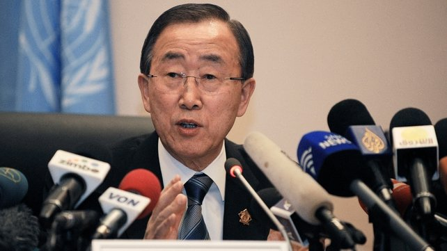 Ban Ki-moon called on the Syrian government to stop the violence