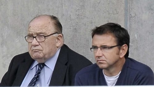 Malcolm Brodie, pictured here with Pat Fenlon, has passed away