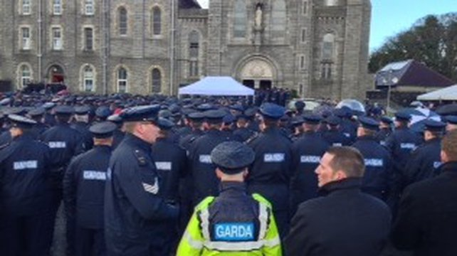 Thousands of gardaí attended the funeral mass of their colleague