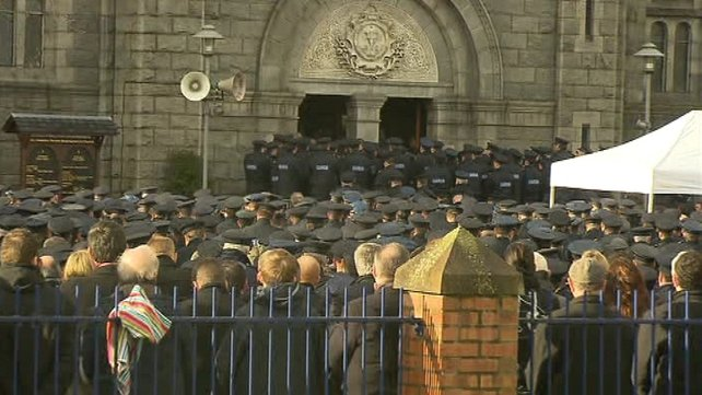 Around 2,500 uniformed gardaí attended the funeral