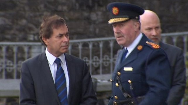 Minister for Justice Alan Shatter spoke with Commissioner Callinan ahead of the mass