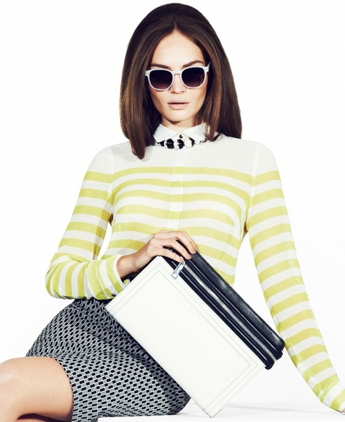Cat-eye sunglasses are big for spring, this image is from Marks & Spencer's spring/summer lookbook