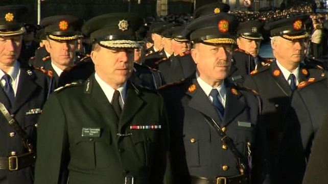 PSNI Chief Constable Matt Baggott walked alongside Garda Commissioner Callinan