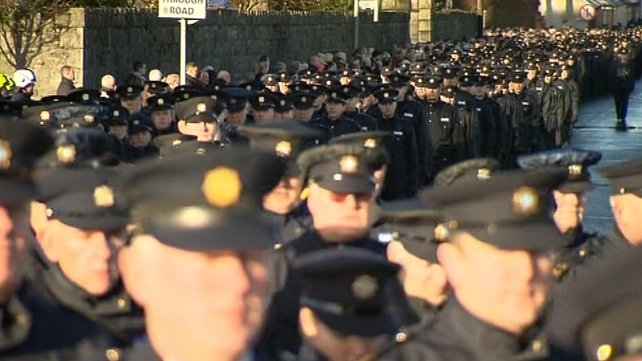 Thousands of uniformed and plain clothes gardaí attended the funeral