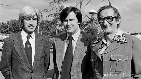From left to right; Mike Horgan (editor), Jim Carney (presenter) and Mick Dunne (commentator)