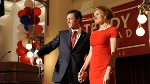 Eric Close and Connie Britton play fading country star Rayna James and her husband Teddy Conrad on Nashville