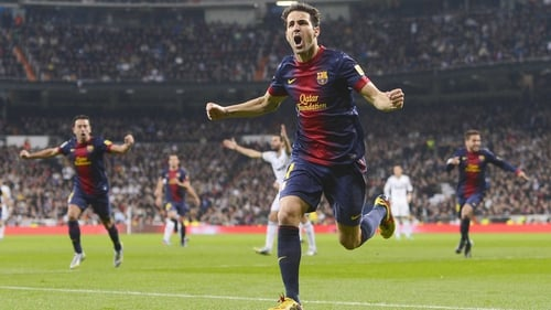 Cesc Fabregas opened the scoring for the visitors in the latest instalment of El Clasico