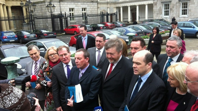 The Oireachtas Health Committee presented its report to Minister for Health James Reilly (Pic: David McCullagh)