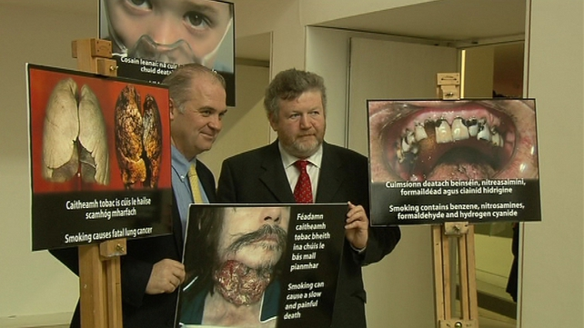 James Reilly said he hopes smokers will be shocked into quitting