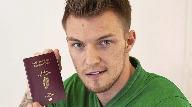 Blackburn-born Pilkington qualifies for Ireland through his father's mother
