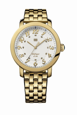 Tommy Hilfiger gold watch, €139. Available from jewellers nationwide
