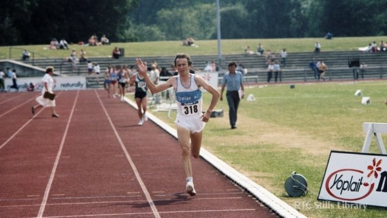 John Treacy wins the men's 5000 metres, Santry, Dublin.