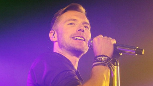 Ronan Keating has injured his ankle