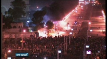 Protesters and police clash in Cairo