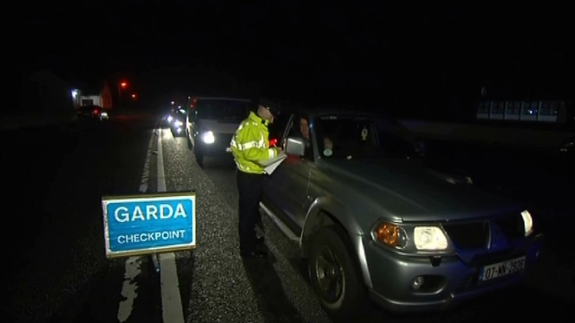 Gardaí set up a checkpoint near Lordship, close to where the killing took place last Friday night