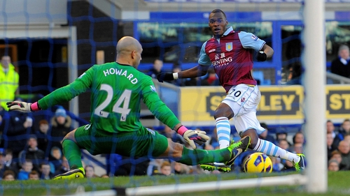 Christian Benteke has requested a move from Villa Park