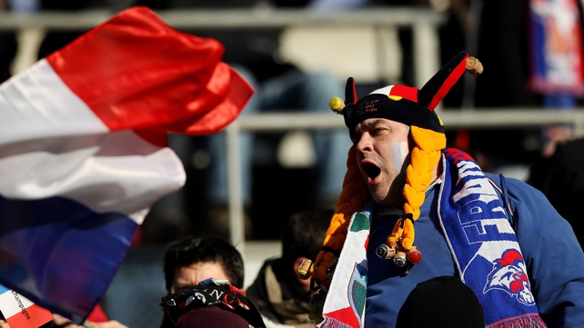 French fans travel to Rome to support their side at Stadio Olimpico today