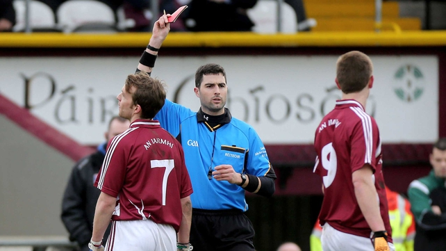 Doron Harte was shown a red card in the 20th minute