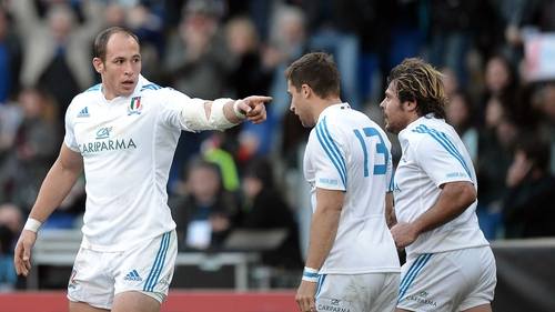 Sergio Parisse has praised his team-mates following their victory over France in Rome