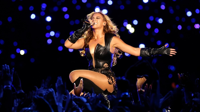 Beyonce provided the half-time entertainment