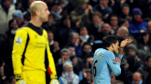 Pepe Reina's howler allowed Sergio Aguero to snatch a point for Manchester City