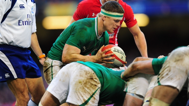 O'Driscoll stood in at scrum half as Ireland beat Wales for the first time since 2009 in Cardiff