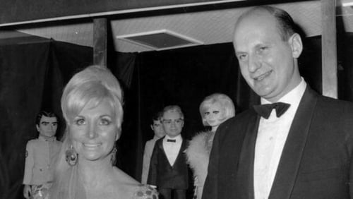Gerry Anderson and his second wife, Sylvia, at the premiere of Thunderbirds Are Go in 1966