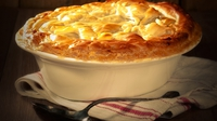 Turkey, Leek and Mushroom Pie - A fantastic way of using up leftover turkey this Christmas.