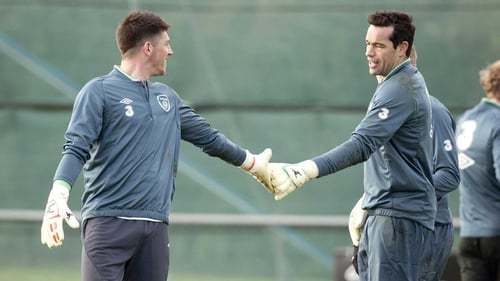 David Forde and Keiren Westwood are vying for the number one jersey with the former Derry City man set to get the nod