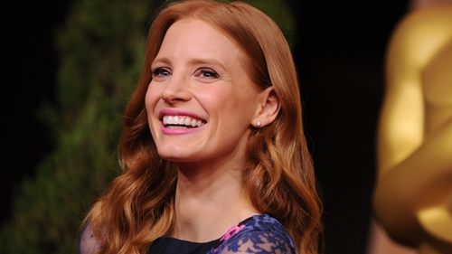 Chastain at the Academy Award nominees luncheon