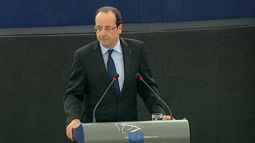 Francois Hollande said European countries should agree on  exchange rate