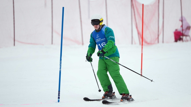 Stuart Brierton claimed a silver medal for Ireland on the last day of the 2013 Special Olympics World Winter Games