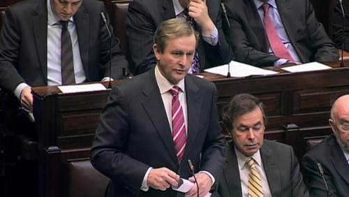 Enda Kenny said he wanted to bring clarity to the matter