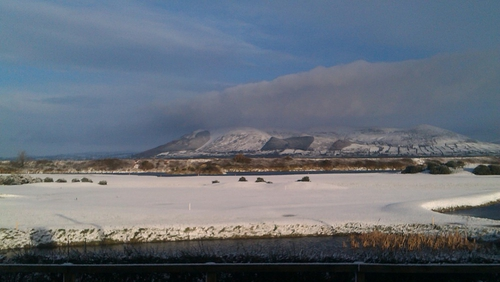 Snowfall in Greenore, Co Louth (Pic: Mary Larkin)