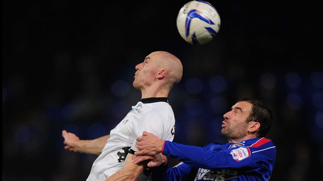 Conor Sammon has scored six goals in 28 Championship appearances for Derby this season