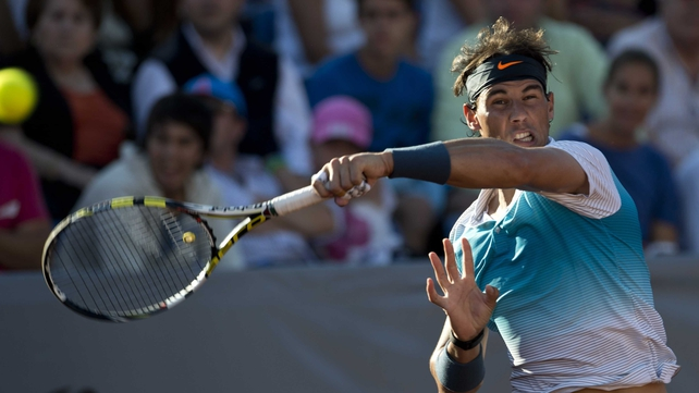 Rafael Nadal made his comeback in a double match that last just over an hour