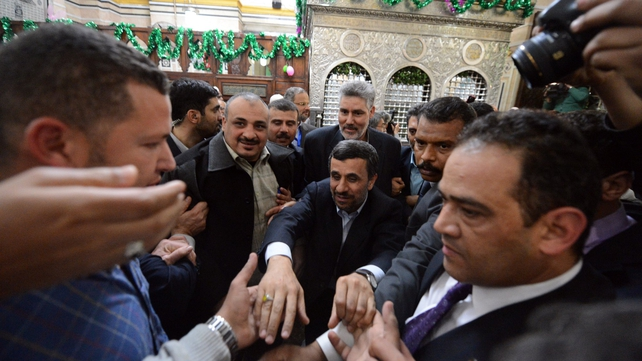 Mahmoud Ahmadinejad is the first Iranian leader to visit Egypt in more than 30 years