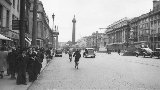 The latest volume covers the period from 1945-48. Pictured above - Dublin's O'Connell Street in 1948