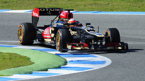 Romain Grosjean clocked the top time of one minute 18.218 seconds in Jerez
