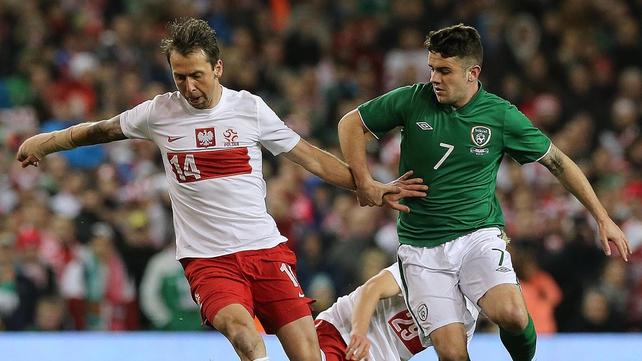 Robbie Brady looks set to start against Sweden