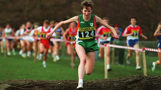Catherina McKiernan on her way to winning the 1994 European Cross Country Championship. Getty Images Sport
