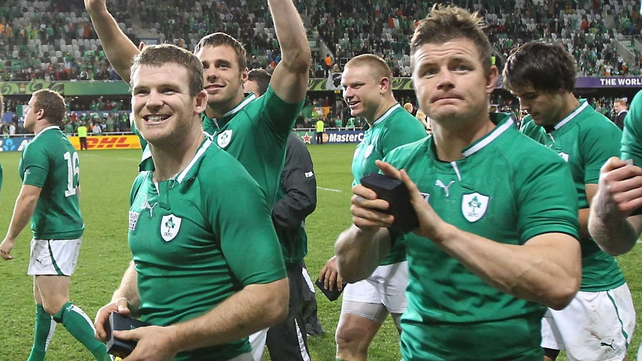 Gordon D'Arcy and Brian O'Driscoll have played 47 Tests together in midfield