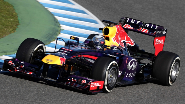 Sebastian Vettel testing in Jerez today