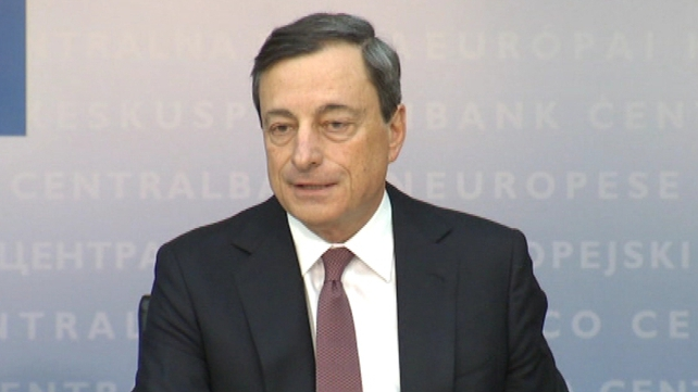 ECB President Mario Draghi said the governing council of the bank had taken note of the Irish operation on the promissory note