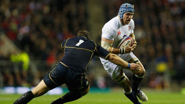 James Haskell starts his first game for England in two years