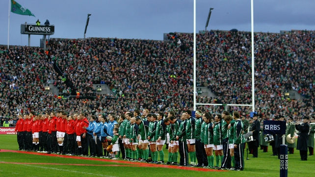 A packed Hill 16 at Croke Park on 24 February 2007