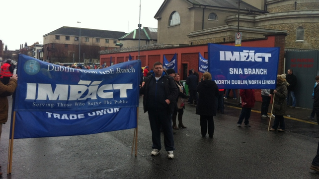 A number of trade unions were represented at the marches