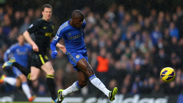 Ramires fired Chelsea into the lead in the 23rd minute